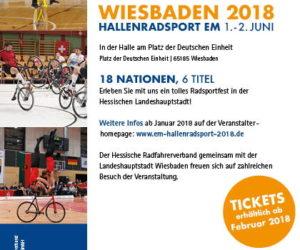 Hallenradsport EM 2018 in Wiesbaden